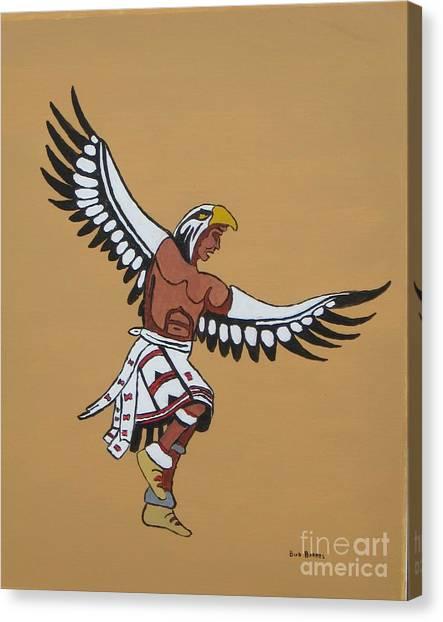 Eagle Dancer Canvas Print by Bud  Barnes
