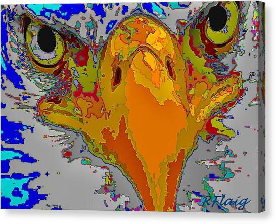 Eagle Eyes Canvas Print by Rebecca Flaig