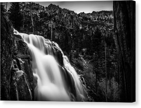 Ansel Adams Canvas Print - Eagle Falls Black And White by Scott McGuire