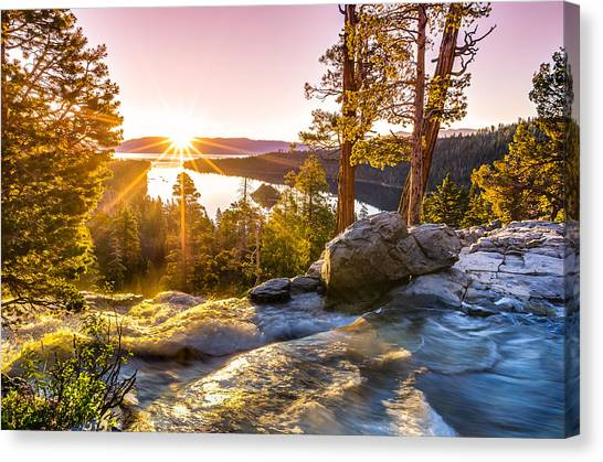 Nature Canvas Print - Eagle Falls Emerald Bay Lake Tahoe Sunrise First Light by Scott McGuire
