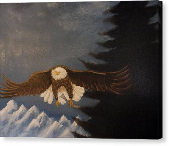 Eagle Flying Canvas Print