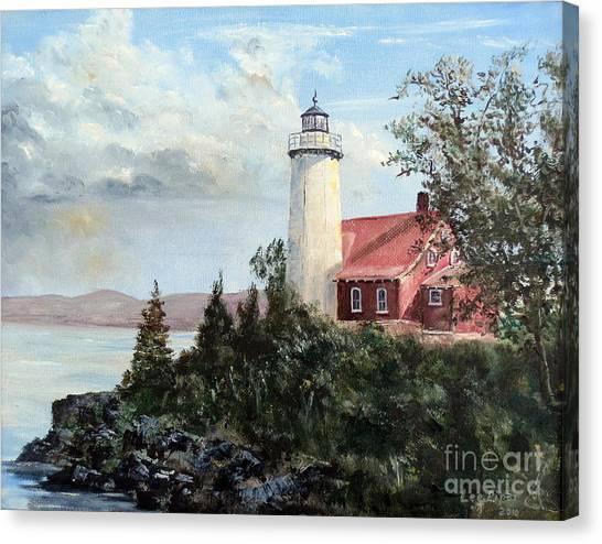 Eagle Harbor Light Canvas Print