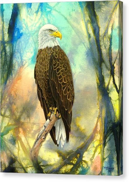 Eagle Canvas Print - Eagle In Abstract by Paul Krapf