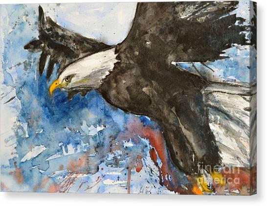 Eagle In Flight Canvas Print
