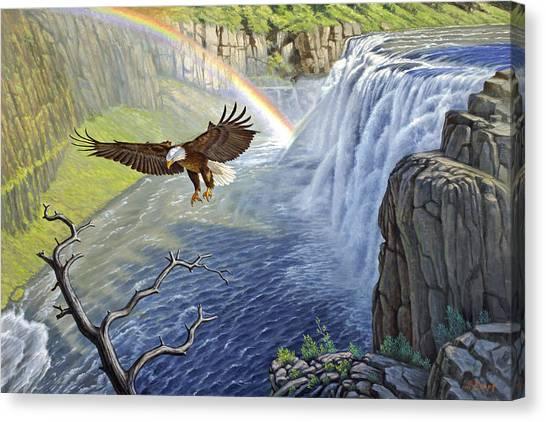 Eagle Canvas Print - Eagle-mesa Falls by Paul Krapf