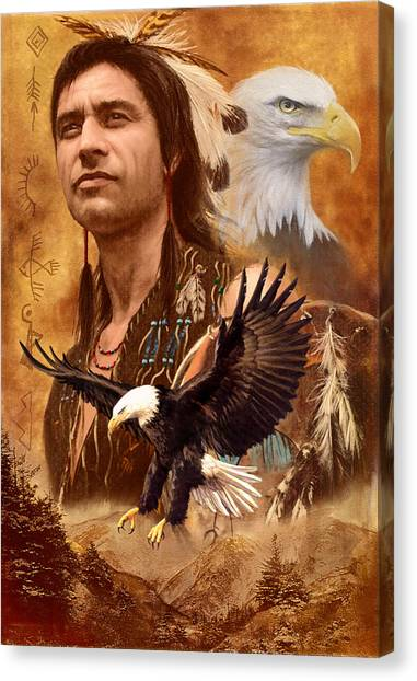 Catchers Canvas Print - Eagle Montage by Garry Walton