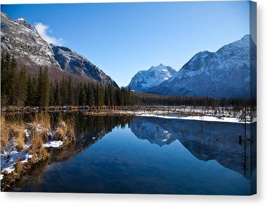 Eagle River Valley Canvas Print