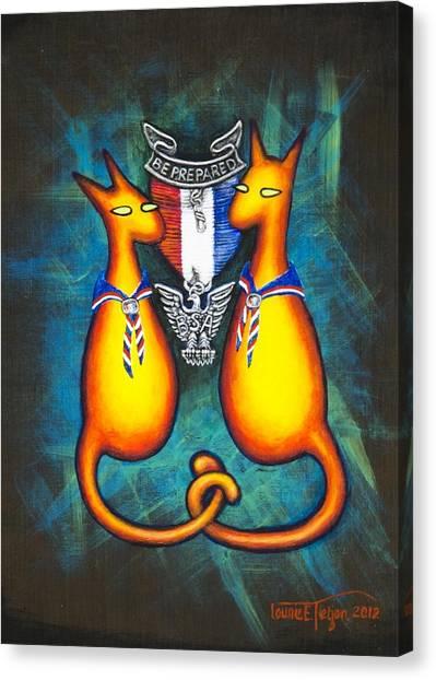 Eagle Scout Canvas Print - Eagle Scout Kats by Laurie Tietjen