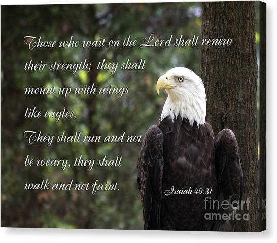 Eagle Scripture Isaiah Canvas Print