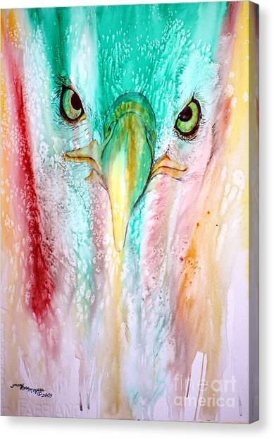 Eagle Vision Canvas Print by Tracy Rose Moyers
