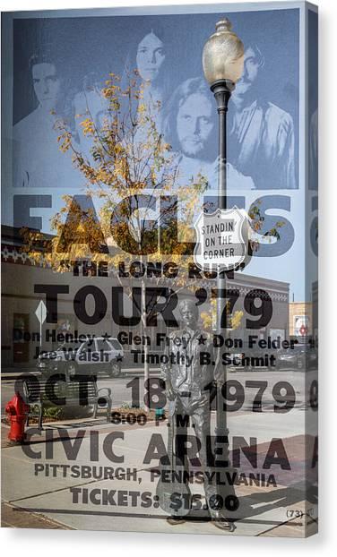 Eagles The Long Run Tour Canvas Print