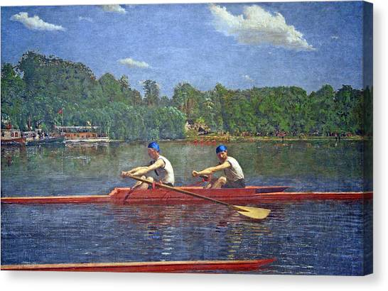 Eakins' The Biglin Brothers Racing Canvas Print