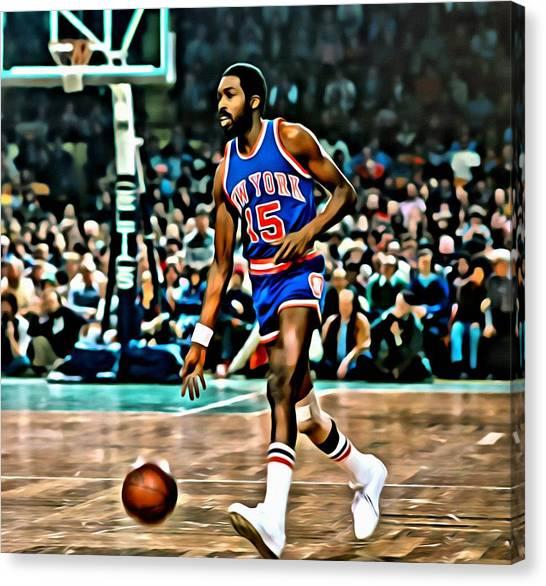 New York Knicks Canvas Print - Earl Monroe by Florian Rodarte