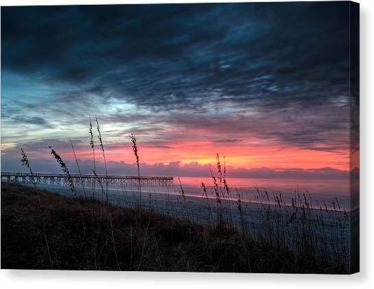 Early At The Beach Canvas Print