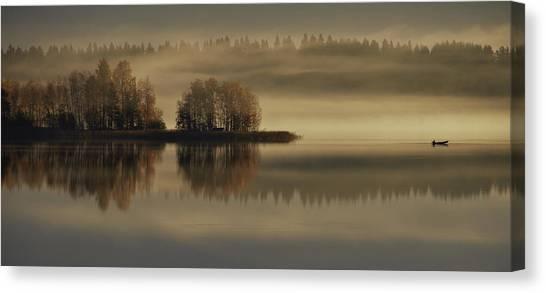 Early Canvas Print - Early Autumn Morning by Pekka Ilari T