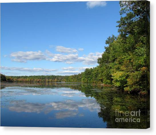 Early Autumn Scituate Reservoir Canvas Print