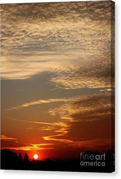 Early Autumn Sunset Canvas Print