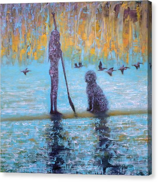 Early Birds Canvas Print by Ned Shuchter