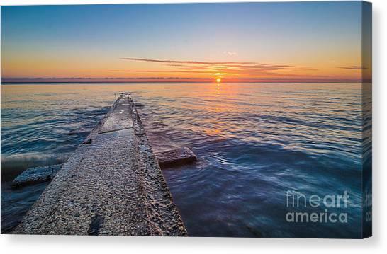 Early Breakwater Sunrise Canvas Print