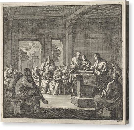 Early Christian Art Canvas Print - Early Christian Community Listening To A Reading by Quint Lox