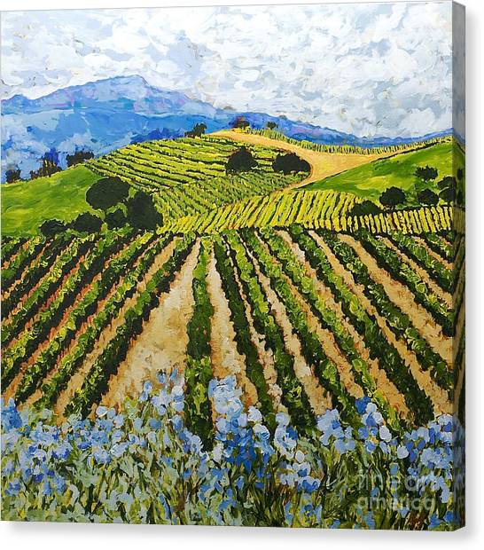 Canvas Print - Early Crop by Allan P Friedlander