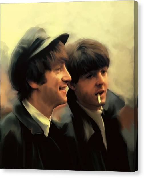 Early Days II John Lennon And Paul Mccartney Canvas Print