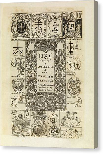 Printers Canvas Print - Early English Printers by Middle Temple Library