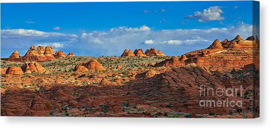 Arizona Coyotes Canvas Print - Early Evening Light At Coyote Buttes by Matt Suess