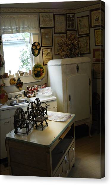 Early Fifty's Kitchen Canvas Print