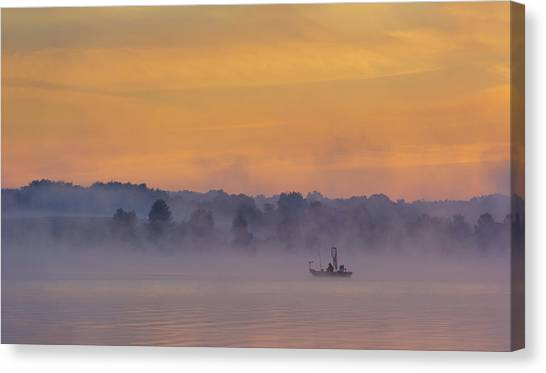 Nets Canvas Print - Early Fishing by ??????? / Austin