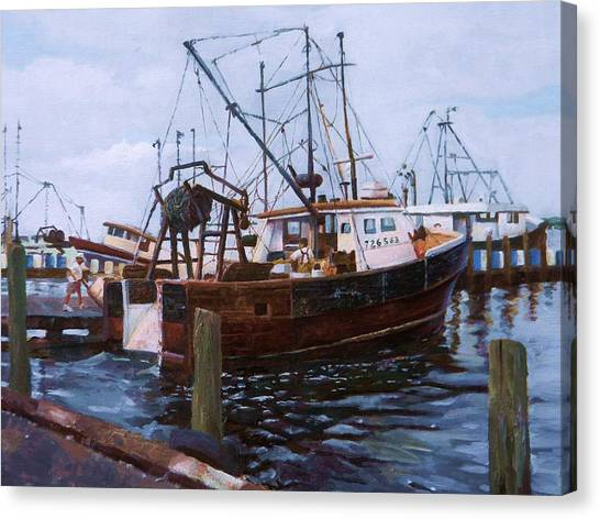 Early Harbor Morning Canvas Print