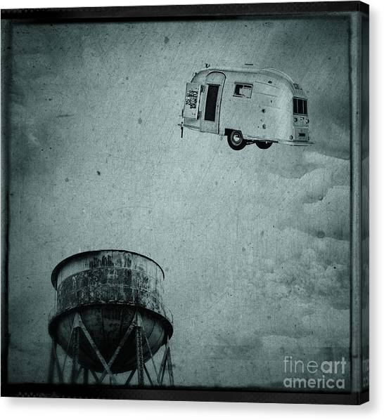 Blimps Canvas Print - Early Historic Airstream Flight by Edward Fielding