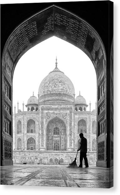 Palace Canvas Print - Early In The Morning by Andrei Nicolas -