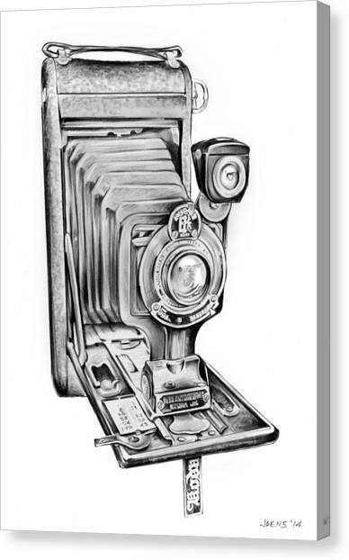 Camera Canvas Print - Early Kodak Camera by Greg Joens