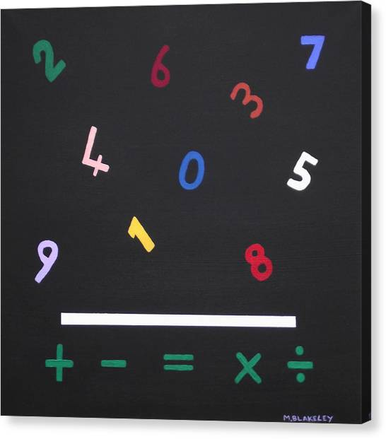 Early Maths In Color Canvas Print