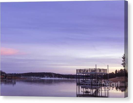 Early Morning At The Lake Canvas Print