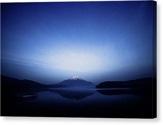 Early Morning Blue Symbol Canvas Print by Takashi Suzuki