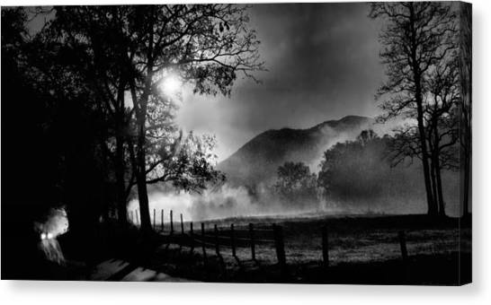 Early Morning Drive. Canvas Print