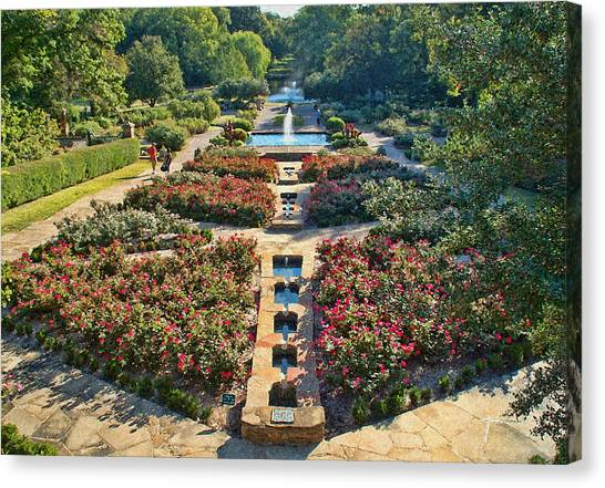 Early Morning Fort Worth Botanic Gardens Canvas Print