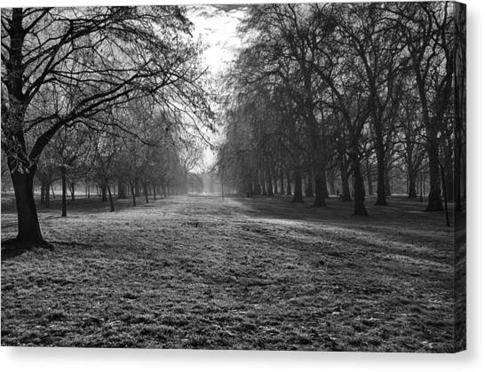 Early Morning In Hyde Park Canvas Print