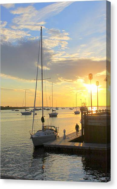 Early Morning In The Harbor Canvas Print