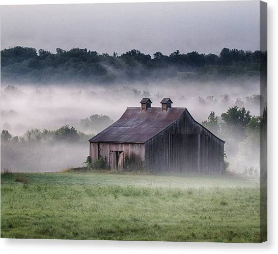 Early Morning In The Mist Standard Canvas Print