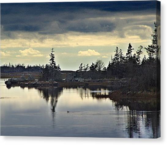 Early Morning In The Salt Marsh Canvas Print by George Cousins