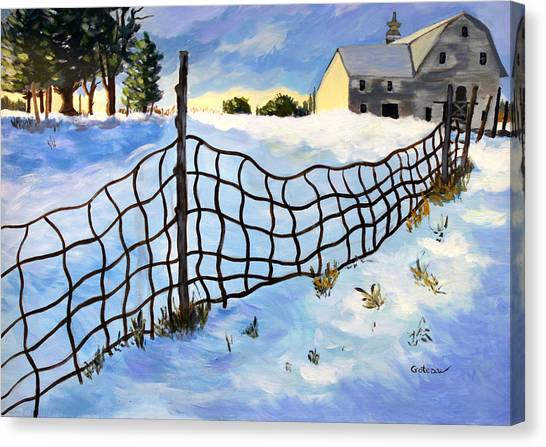 Early Morning In Winter Canvas Print by Jane Croteau