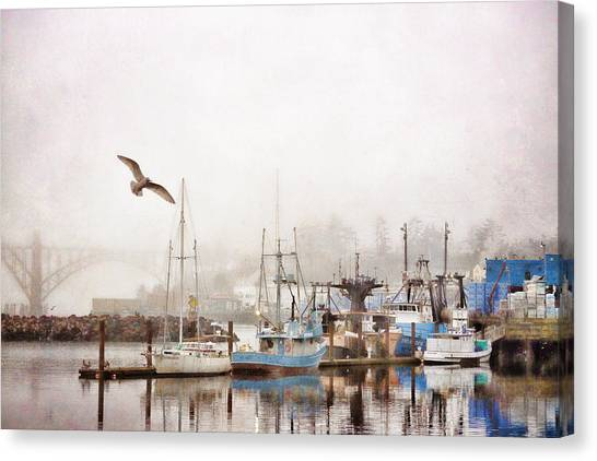 Pacific Canvas Print - Early Morning Newport Oregon by Carol Leigh