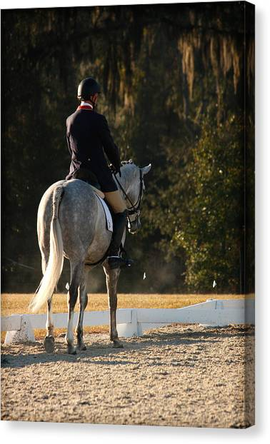 Early Morning Ride Time Canvas Print