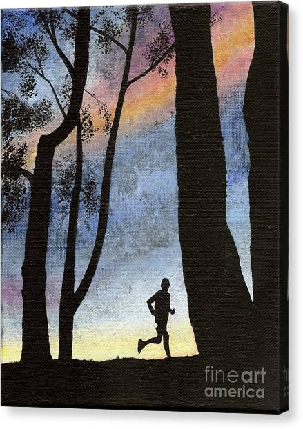 Early Morning Run Canvas Print
