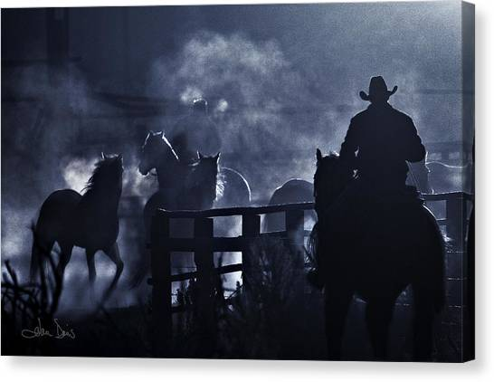Early Morning Smoke Canvas Print