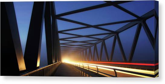 Panorama Canvas Print - Early Morning Traffic by Norbert Maier