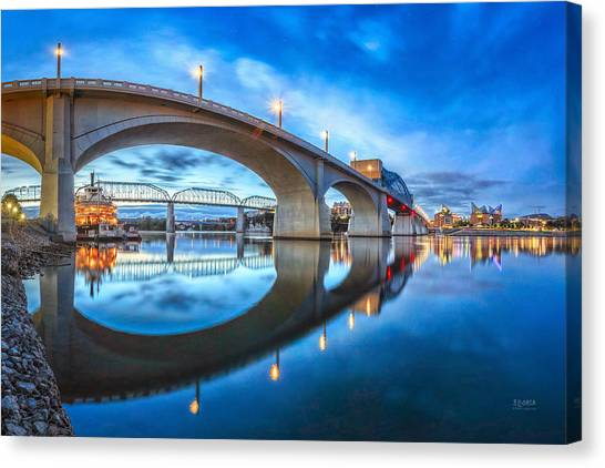 Early Morning Under Market Street Bridge Canvas Print